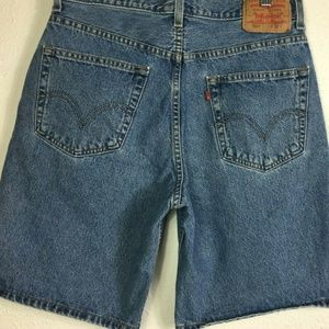 "Levi's 550 32(31"") Cotton High Waist Jean Shorts"